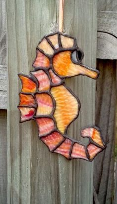 Stained Glass Sea Horse Sun Catcher by SunshineGlassworks on Etsy, $15.00