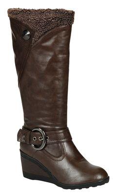 Reneeze ADDIE-3 Women High Heel Mid-Calf Boots-BROWN