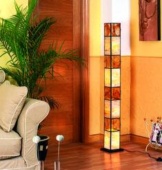 Lamparas Pie de salon WADHISH Miel. Iluminación Beltrán, tu tienda online en Lámparas de salón artesanales. www.decoracionbeltran.com