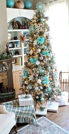 Christmas Inspiration- Tiffany Blue | Blue christmas decor, Aqua ...