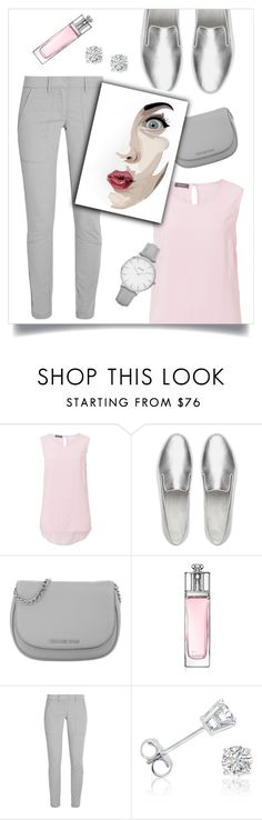 """""""Без названия #67"""" by mariameka ❤ liked on Polyvore featuring Basler, FitFlop, Michael Kors, Christian Dior, DKNY, Amanda Rose Collection, Monday and Topshop"""