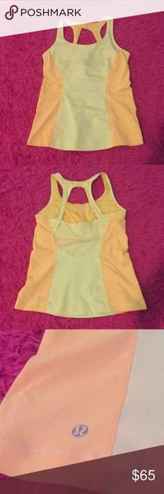 Lululemon workout top Hardly worn, tag is cut out but it's a size 6.  Super cute mesh cut out in the back. Make offers and bundle for discounts 💕 lululemon athletica Tops