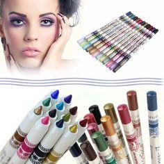 12 Colors Glitter Lip Liner Eye Shadow Eyeliner Professional Makeup Pencil Set