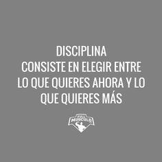 La disciplina lo es todo. Sin ella no lograrás nada en la vida #motivation #fitness