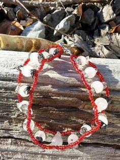 Rose Quartz bracelet, Quartz Bracelet, ladder weave bracelet, Rose Quartz Jewelry, gift for her, gift for mom, Mothers Day, Birthday gift