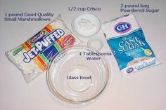 Marshmallow Fondant Ingredients