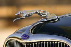 1933 Ford Greyhound hood ornament.