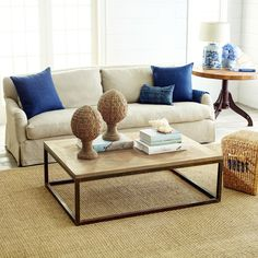 Rectangular Parquet-Top Coffee Table | Coffee Tables