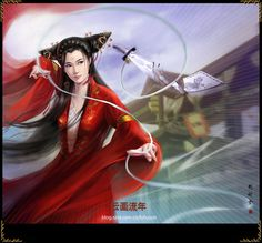 Fracture by hiliuyun on DeviantArt Fantasy Warrior, Fantasy Girl, Samurai, L5r, Cellphone Wallpaper, Japanese Art, Art Girl, Fairy Tales, Anime