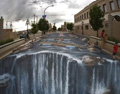 Cool chalk art.  After all that it looks like it's gonna be a rainy day.