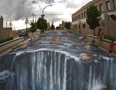 Chalk Waterfall