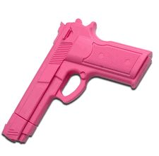 Fake Gun Rubber Pistol Professional On Sale Weighted hard rubber fake gun cast http://www.defensedevices.com/practice-gun-automatic.html