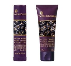 """Yves Rocher - Baume à lèvres & Crème mains """"Fruits Noirs"""" (Collection de Noel 2014)"""