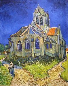 L'église d'Auvers-sur-Oise, vue du chevet by van Gogh