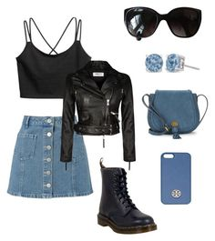 Biker Chick by anjelicadeweese on Polyvore featuring polyvore, fashion, style, Miss Selfridge, Dr. Martens, Nanette Lepore, Chanel, Tory Burch and clothing