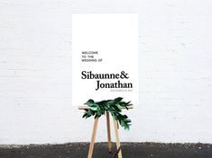 Modern Wedding Sign. Customised Sign. Wedding Signage. Minimalist Welcome Signs. by StolenHeartsStudio on Etsy