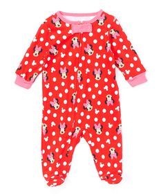 Look what I found on #zulily! Red Minnie Footie #zulilyfinds