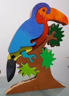 Wood Projects For Kids, Projects To Try, Wooden Puzzles, Wooden Toys, Wooden Reindeer, Wood Animal, Scroll Saw Patterns, Wooden Decor, Woodworking Projects