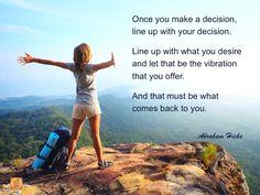 #abrahamhicks #vibrations #decision