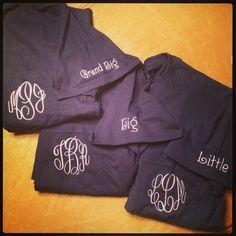 Greek Family Pocket T's by KHPEmbroidery on Etsy Sigma Lambda Gamma, Kappa Alpha Theta, Pi Beta Phi, Alpha Chi Omega, Tri Delta, Delta Zeta, Little Presents, Mine Mine, Sorority Life