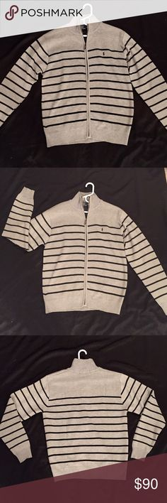 🖤NWOT POLO RALPH LAUREN Sweater🖤 🖤NWOT POLO RALPH LAUREN Sweater🖤 Never Worn. Purchased for a Christmas present but I got the wrong size. Grey&Navy Polo by Ralph Lauren Shirts
