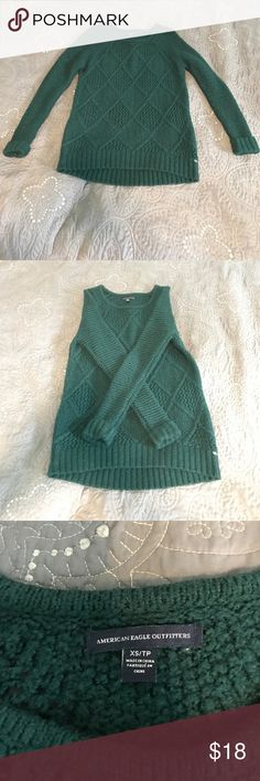 Dark green sweater from American Eagle Super comfy and cute! Hardly ever worn and in great condition. Perfect for a winter day! Only selling because it does not fit me right. American Eagle Outfitters Sweaters