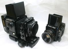 Fuji GX680 is absolutely huge compared to a Mamiya RZ67 which is already pretty big for a MF camera