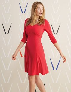 Rosie Dress in Red by Pepperberry