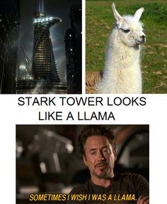 Stark Tower looks like a Llama - Your argument is invalid. #Avengers #Ironman #Llama