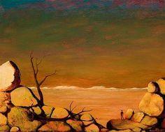 Paintings - George Russell Drysdale - Page 6 - Australian Art Auction Records Australian Painters, Australian Artists, Autumn Art, Art Auction, Van Gogh, Art History, Landscape Paintings, Art Prints, Pictures