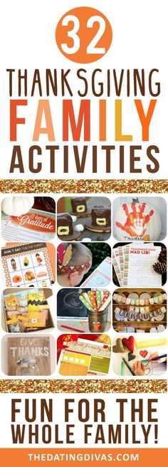 Everyone will love these thanksgiving activities!! --101 MORE Thanksgiving Traditions. Sign me up! -The Dating Divas