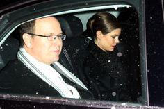 Alberto do Mónaco e Charlotte Casiraghi no casamento religioso de Andrea Casiraghi e Tatiana Santo Domingo