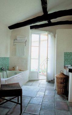A serene bathroom designed by Kathryn Ireland. We love her style!