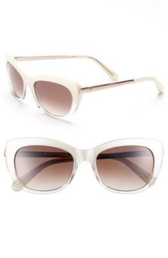 Free shipping and returns on kate spade new york 53mm retro sunglasses at Nordstrom.com. Subtle cat-eye corners lend retro flair to chic kate spade new york sunglasses finished with polished metal temples.