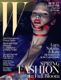 Lara Stone - W United States  Magazine (March 2013)