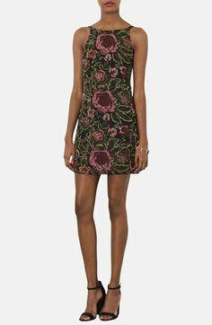 Topshop Embellished Floral Slipdress available at #Nordstrom