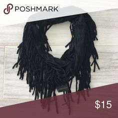 NWT Infinity Scary Fringe Navy Blue Never worn Accessories Scarves & Wraps