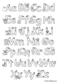 Colour In Alphabet 123 Kids Fun Apps Free Printable Alphabet Letters Lettering Alphabet Fonts Lettering Alphabet