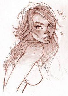 MJ by J Scott Campbell ( pencils)-beautiful freckles