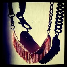 LEatHer , fRiNgeS & cHaiN ///////////  http://www.etsy.com/listing/64072993/leather-fringes-chain