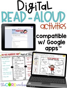 Digital reading response and comprehension activities that are compatible with Google Slides and Google Forms for the book, The Most Magnificent Thing