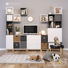 Newest Photo EKET_set for children's room Thoughts The IKEA Kallax collection… - Zimmereinrichtung Ikea Eket, Ikea Kallax, Ikea Kids, Ikea Shelves, Ikea Bedroom, Home And Deco, Girl Room, Room Decor, Interior Design