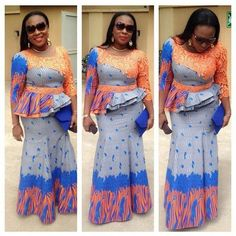 Latest Ankara and Lace Skirt and Blouse Styles for Ladies...Latest Ankara and Lace Skirt and Blouse Styles for Ladies