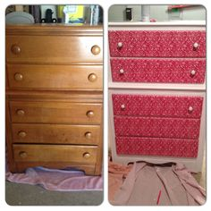 DIY refinished dresser! Super easy, super cute. #diy #furniture