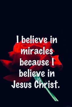 I believe in miracles because I believe in Jesus Christ Prayer Quotes, Faith Quotes, Spiritual Quotes, Bible Quotes, Positive Quotes, Praise God Quotes, Qoutes, Believe In Miracles, Lord And Savior