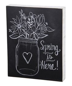 Look at this #zulilyfind! \'Spring Is Here\' Chalk Box Sign by Primitives by Kathy #zulilyfinds