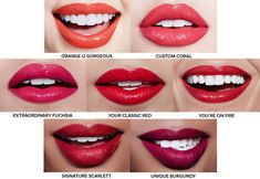 Covergirl Outlast All-Day Custom Reds for fair medium and deep complexions. I'd wear all. Lipstick For Fair Skin, Lipstick Art, Lipstick Dupes, Lipstick Swatches, Lipstick Colors, Lip Colors, Liquid Lipstick, Lips, Makeup