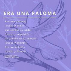 Un poemita popular, porque cualquier día es bueno para la poesía. Movie Posters, Semicolon, Tuesday, Short Stories, Libros, Film Poster, Billboard, Film Posters