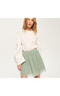 Tiulowa spódnica, Spódnice, zielony, RESERVED