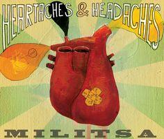 "Veronica Normann Jensen ""heartaches & headaches"" Militsa, cover front"